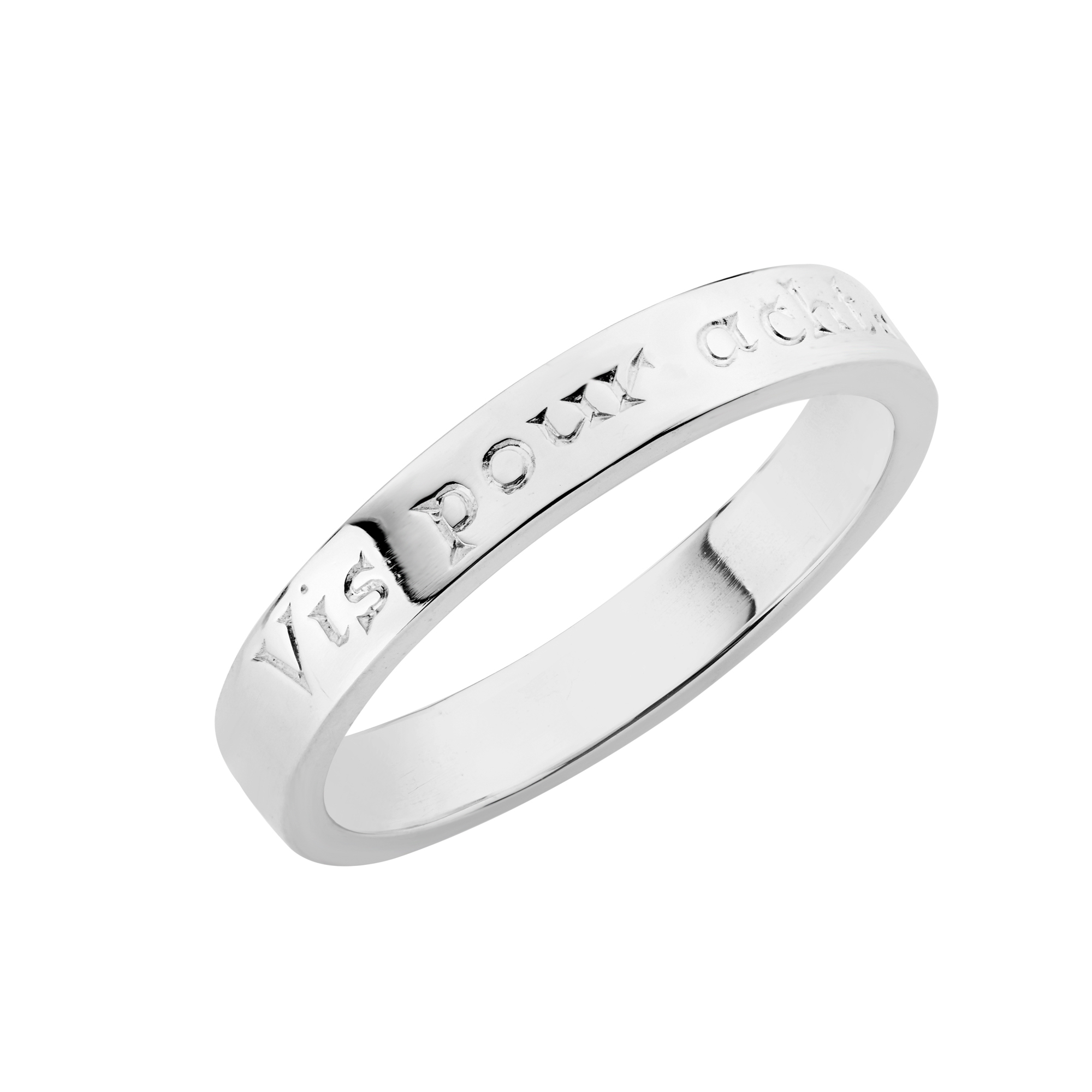 Sterling Silver Ring  (Live for the moment)