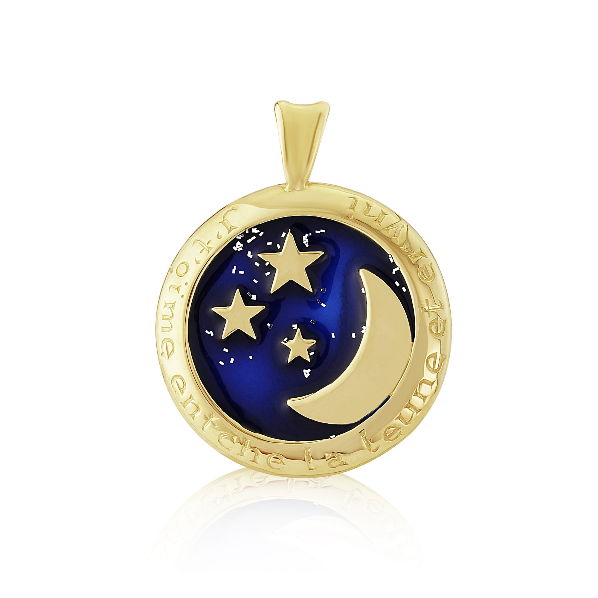 9ct Yellow Gold Pendant  (Love you to the moon and back)