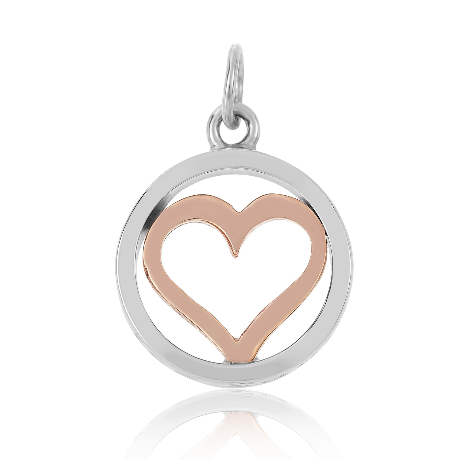 Sterling Silver and 9ct Rose Gold Charm / Pendant (Live your dreams)