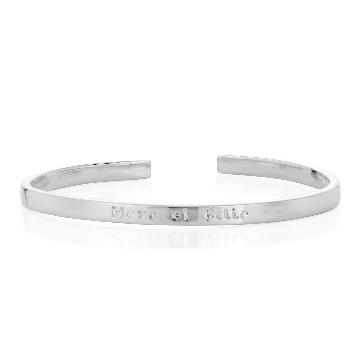 Sterling Silver Bangle (Mother & Daughter)