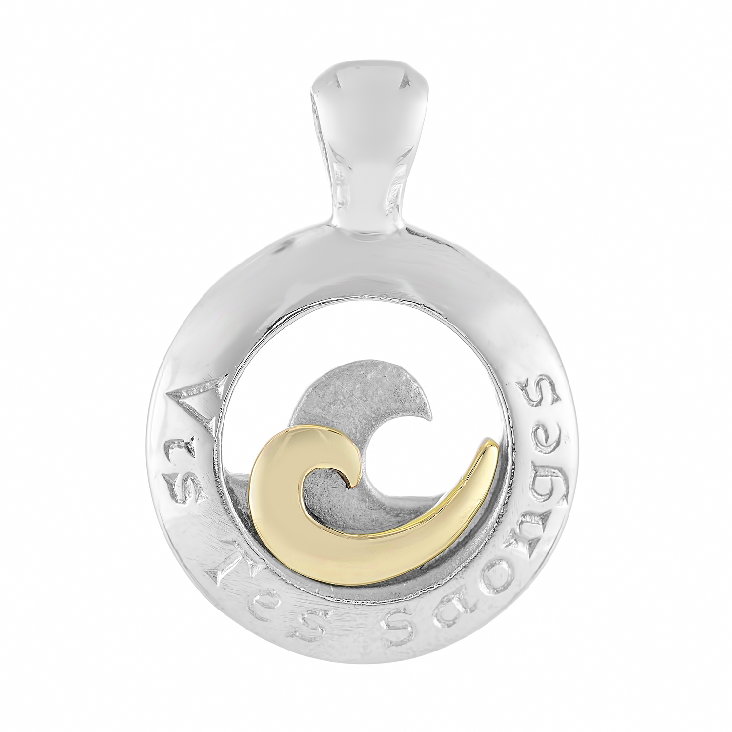 Sterling Silver and 9ct Yellow Gold Pendant (Live your dreams)
