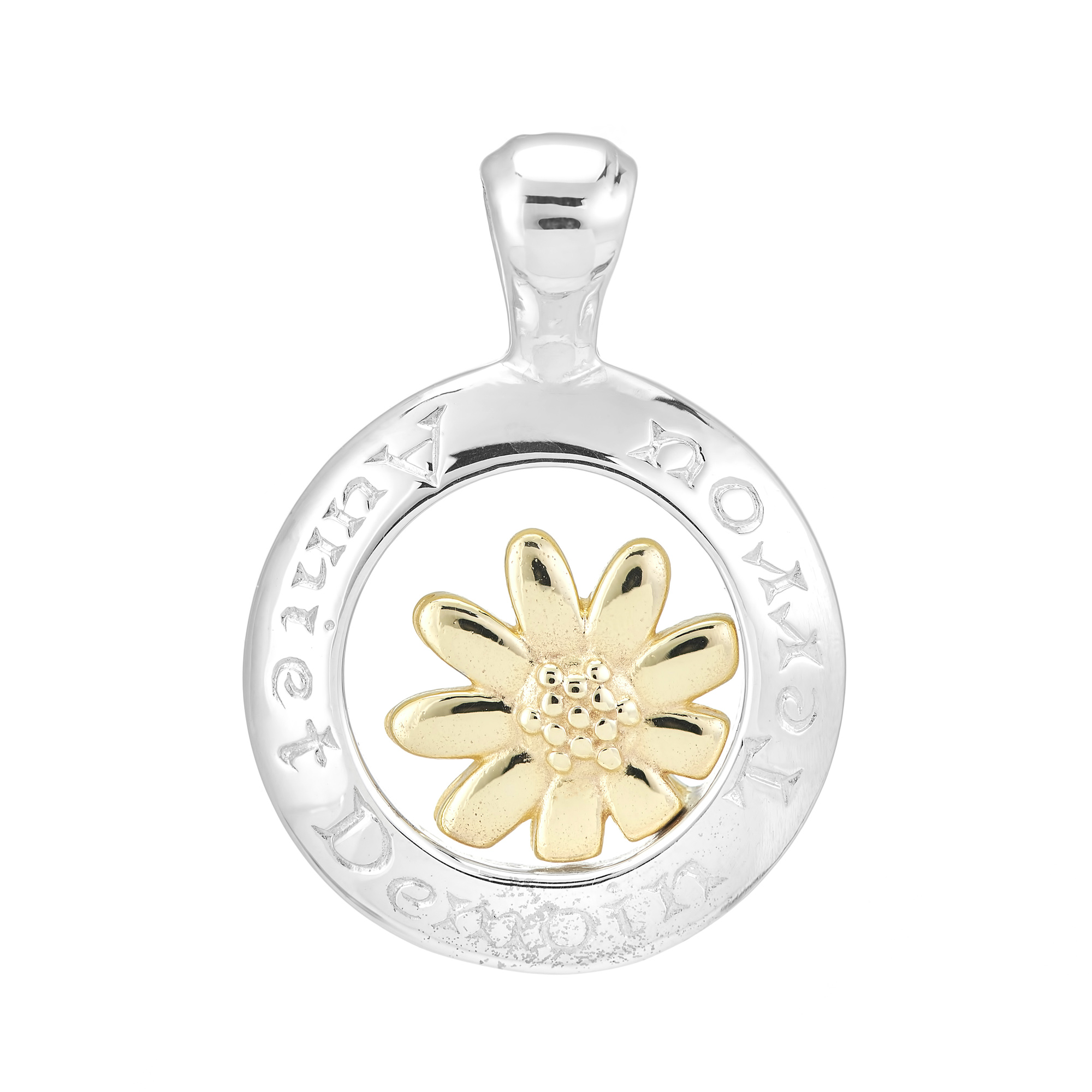 Sterling Silver and 9ct Yellow Gold Pendant (Today Tomorrow Always)