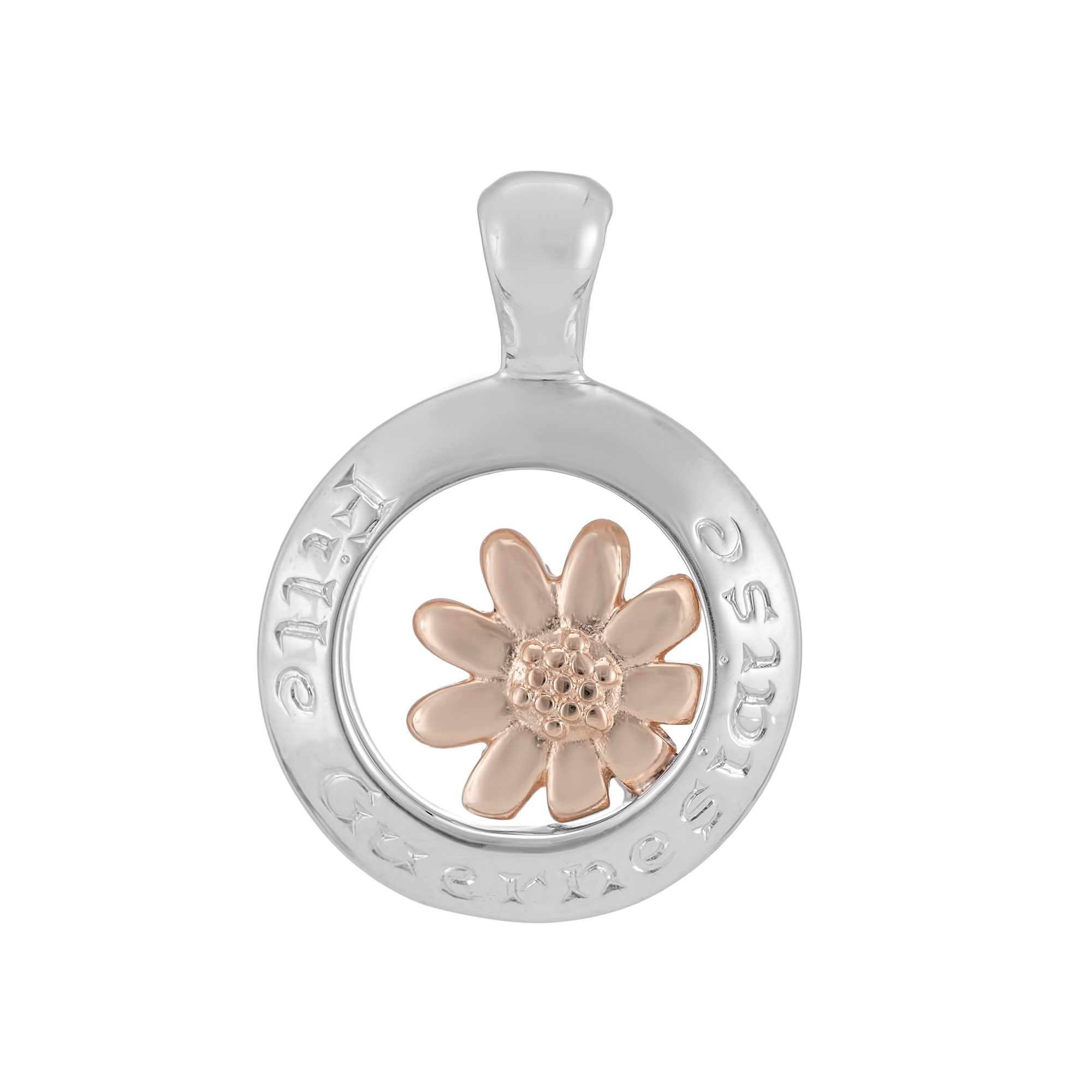 Sterling Silver and 9ct Rose Gold Pendant (Guernsey Girl)