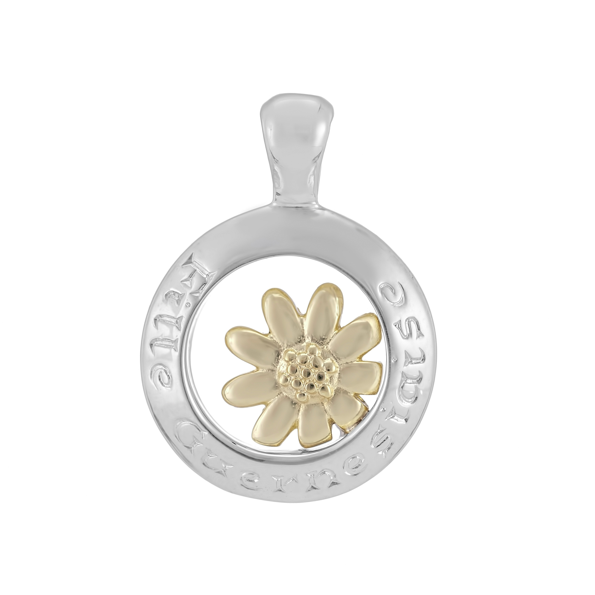 Sterling Silver and 9ct Yellow Gold Pendant (Guernsey Girl)