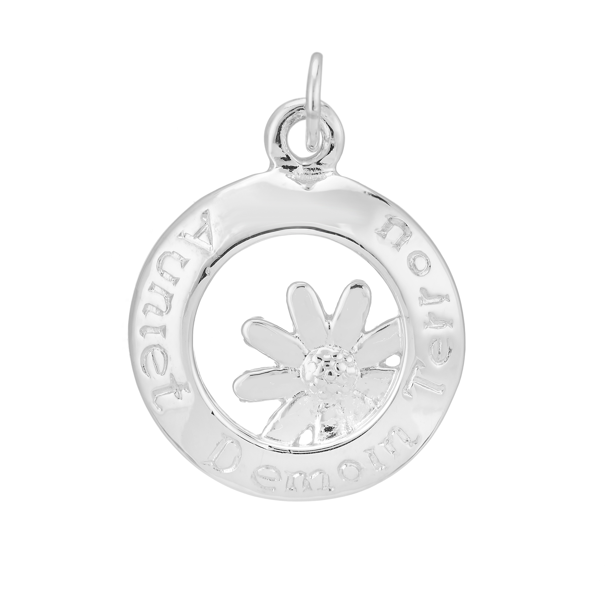 Sterling Silver Charm / Pendant  (Today Tomorrow Always)