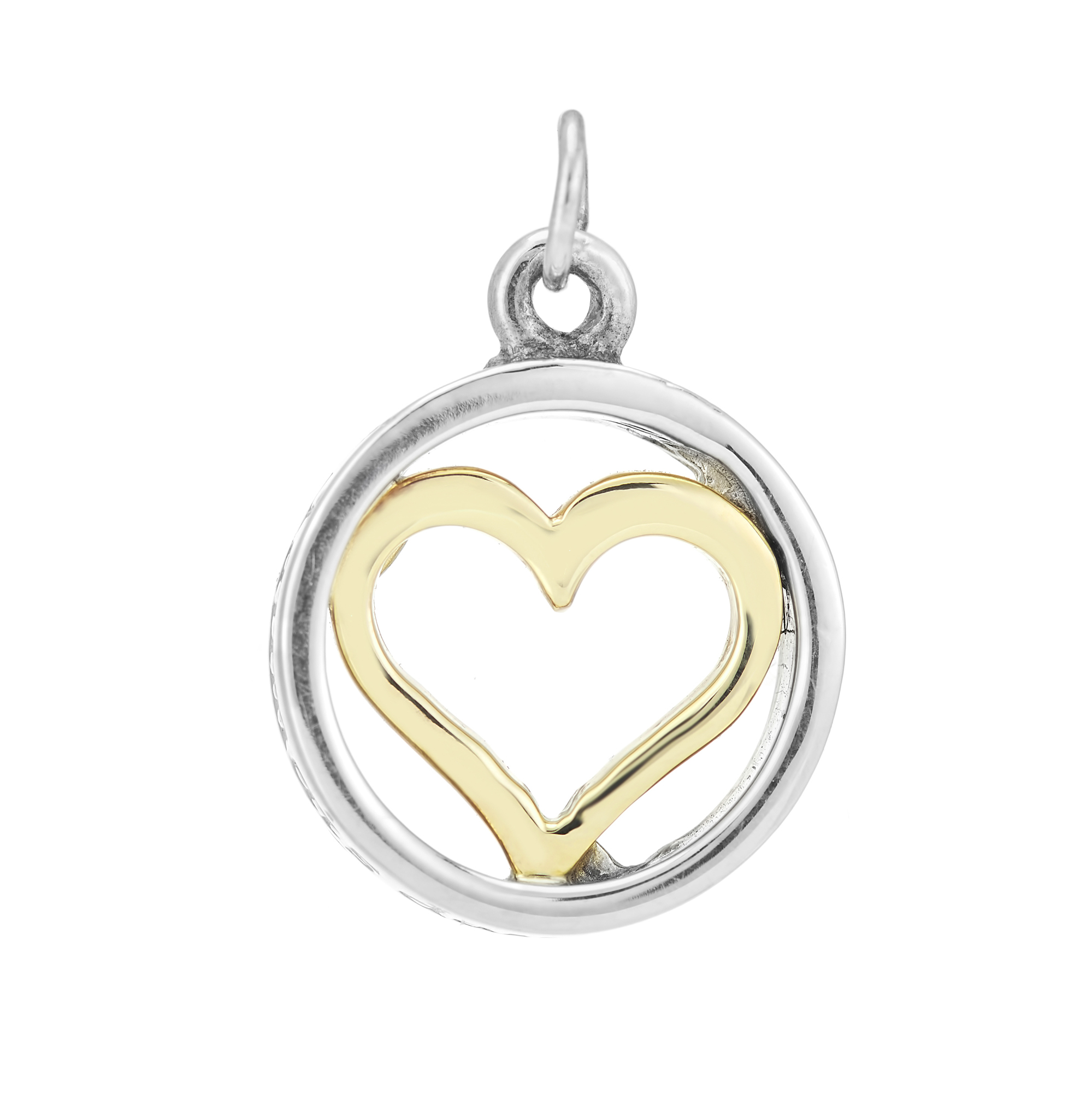 Sterling Silver and 9ct Yellow Gold Charm / Pendant