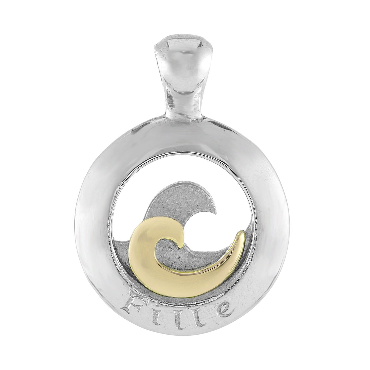 Sterling Silver and 9ct Yellow Gold Pendant (Daughter)
