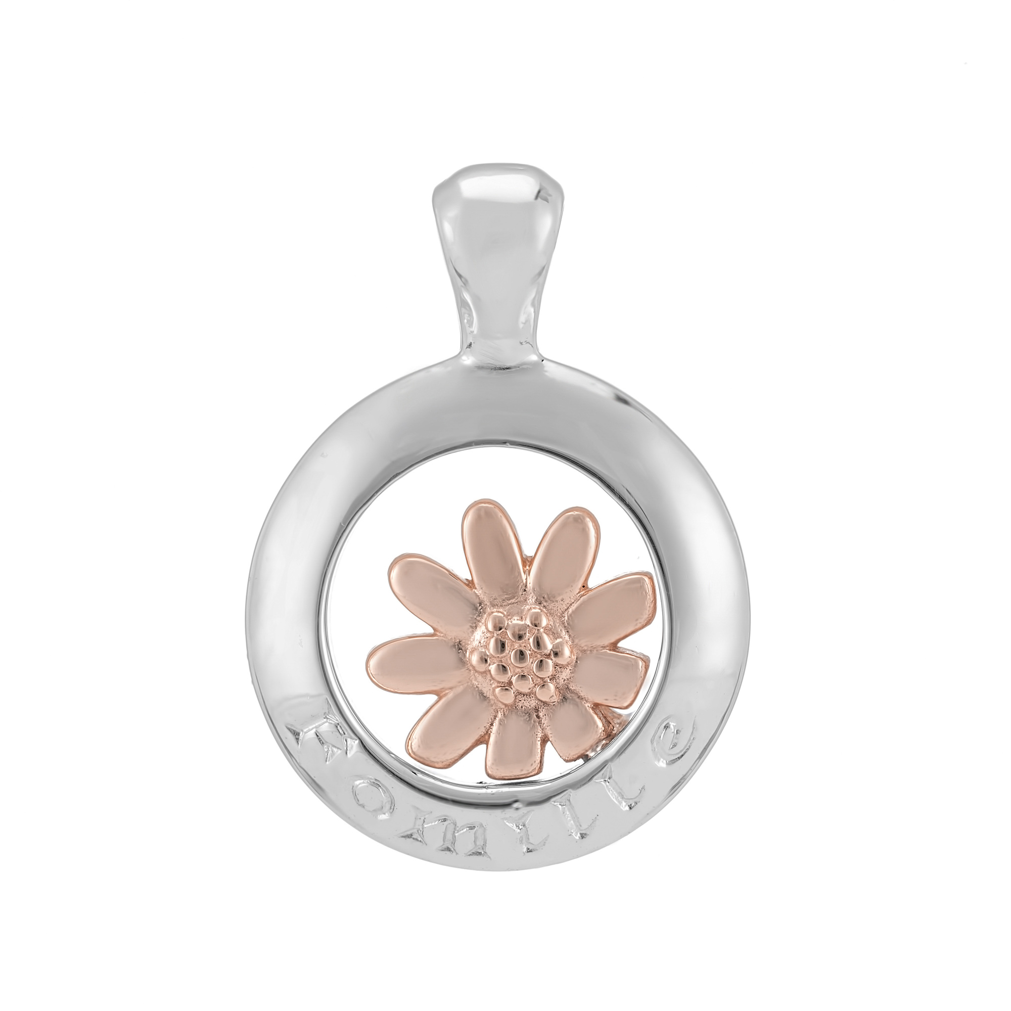 Sterling Silver and 9ct Rose Gold Pendant  (Family)