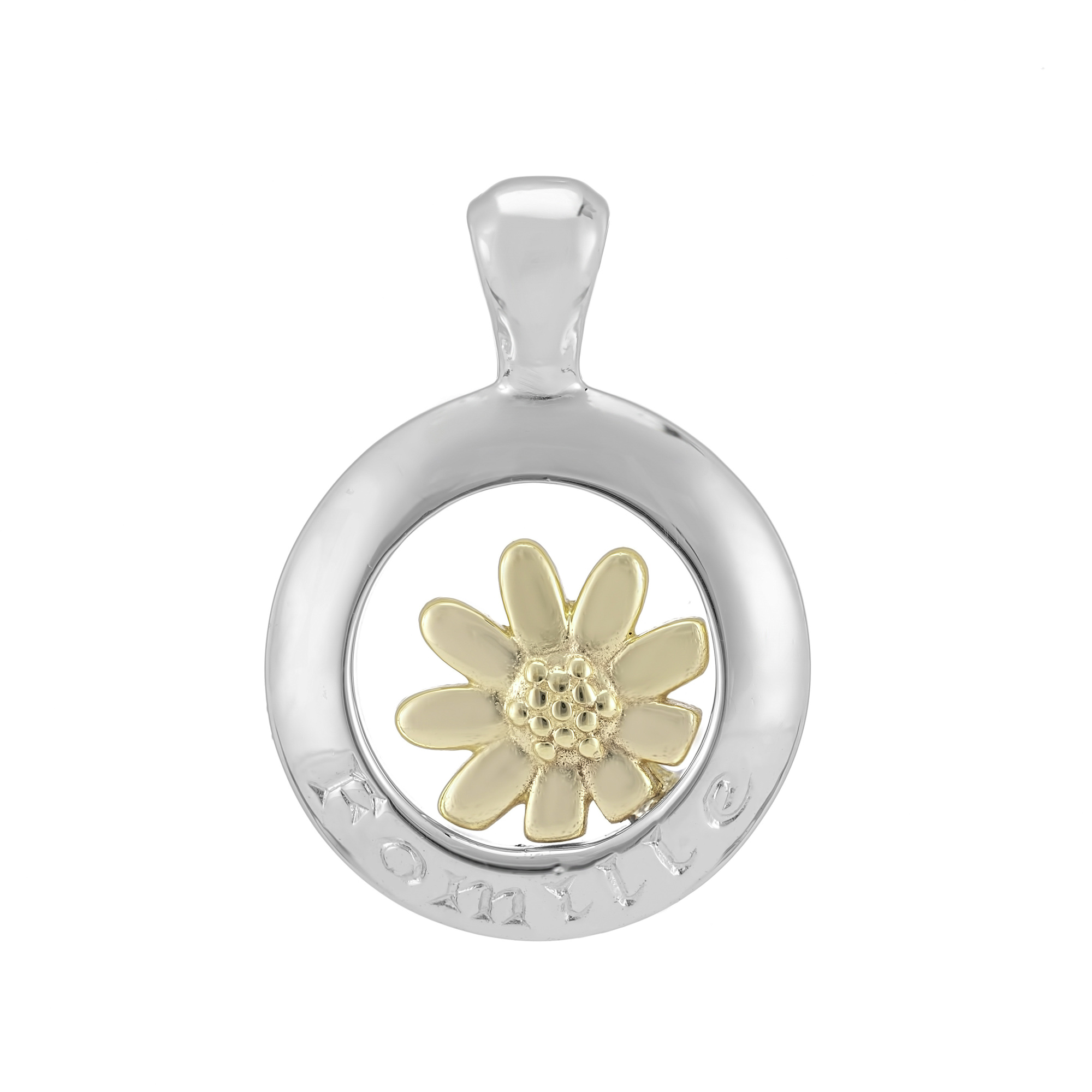 Sterling Silver and 9ct Yellow Gold Pendant (Family)