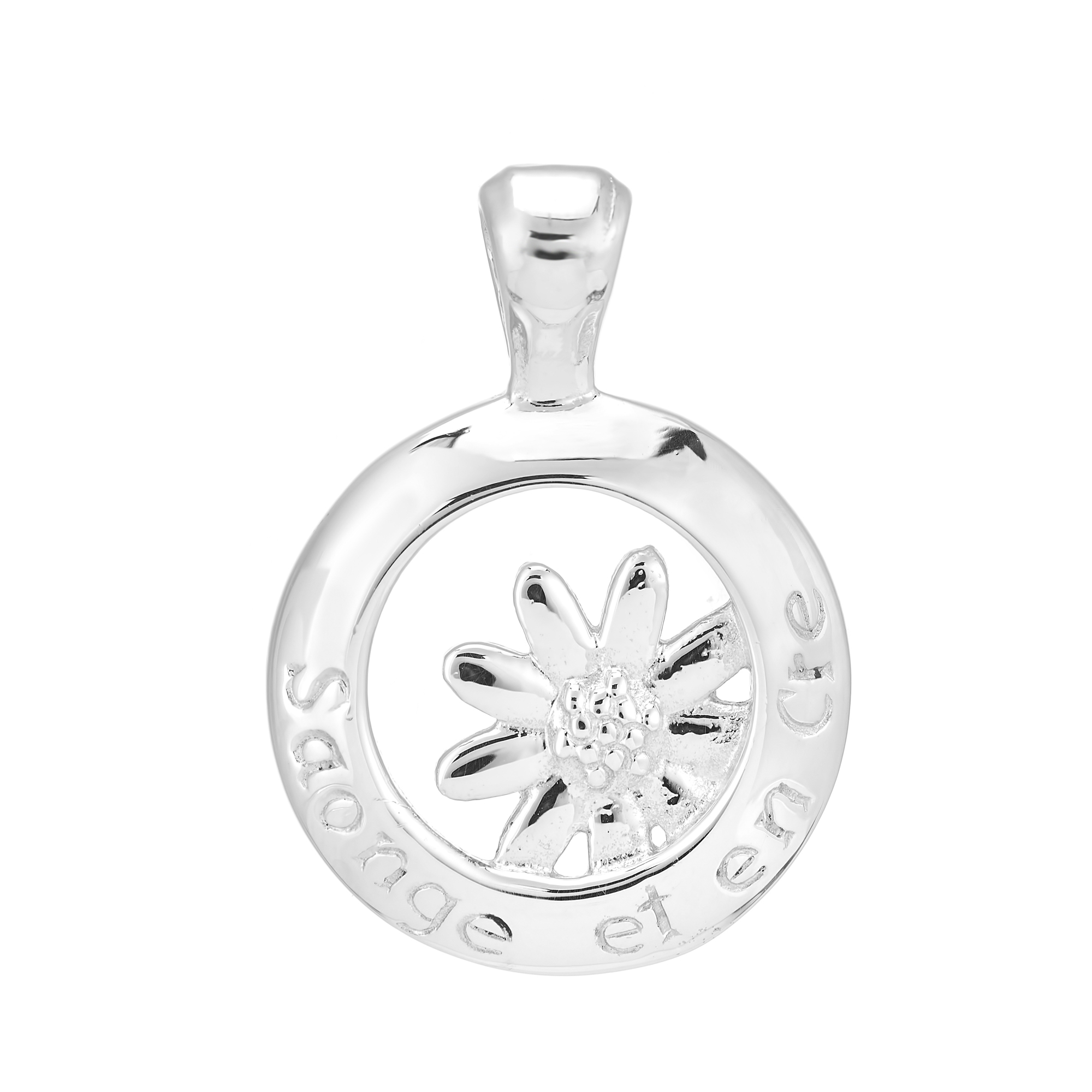 Sterling Silver Pendant  (Dream and Believe )
