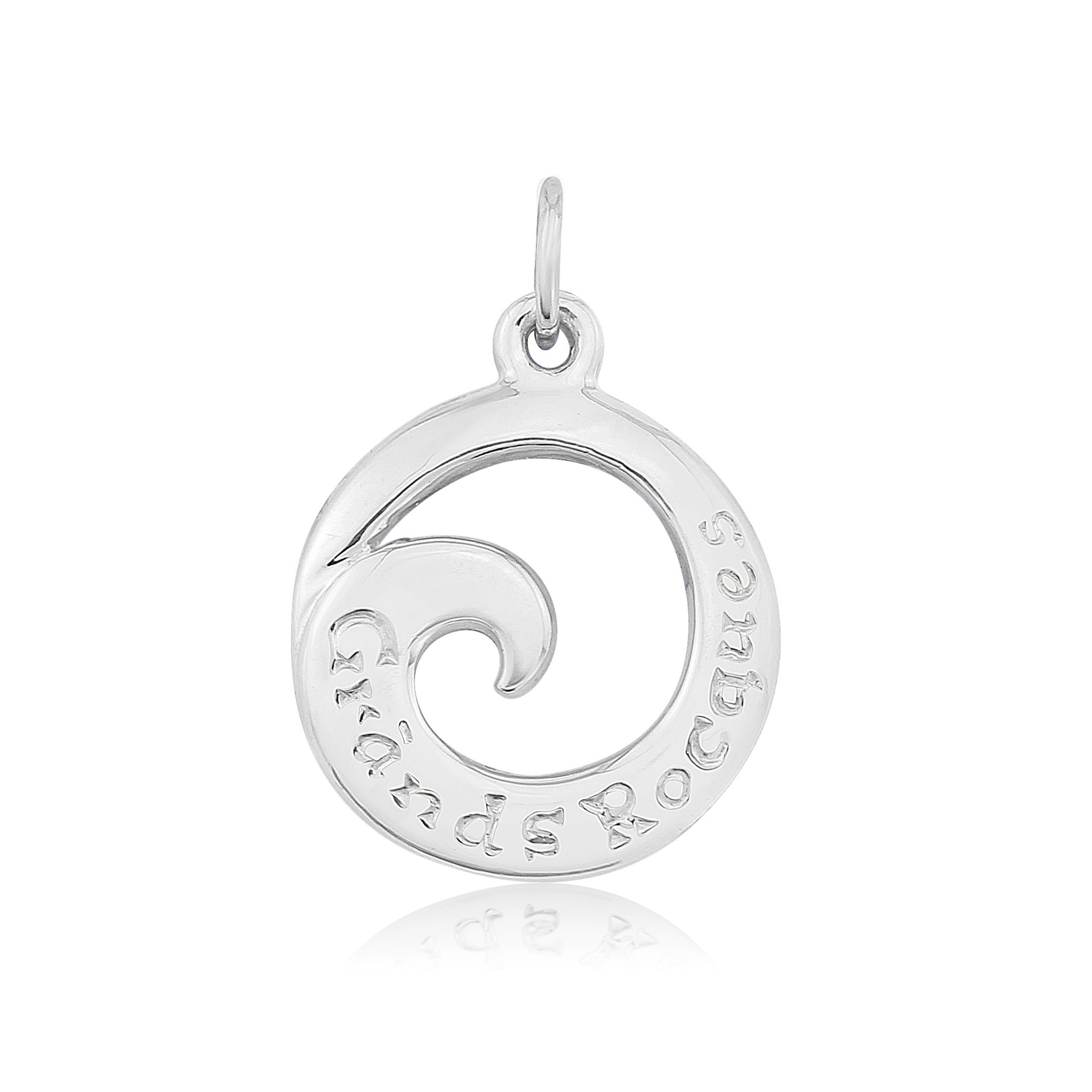 Grands Rocques Sterling Silver Charm / Pendant  (Beach / Bays)