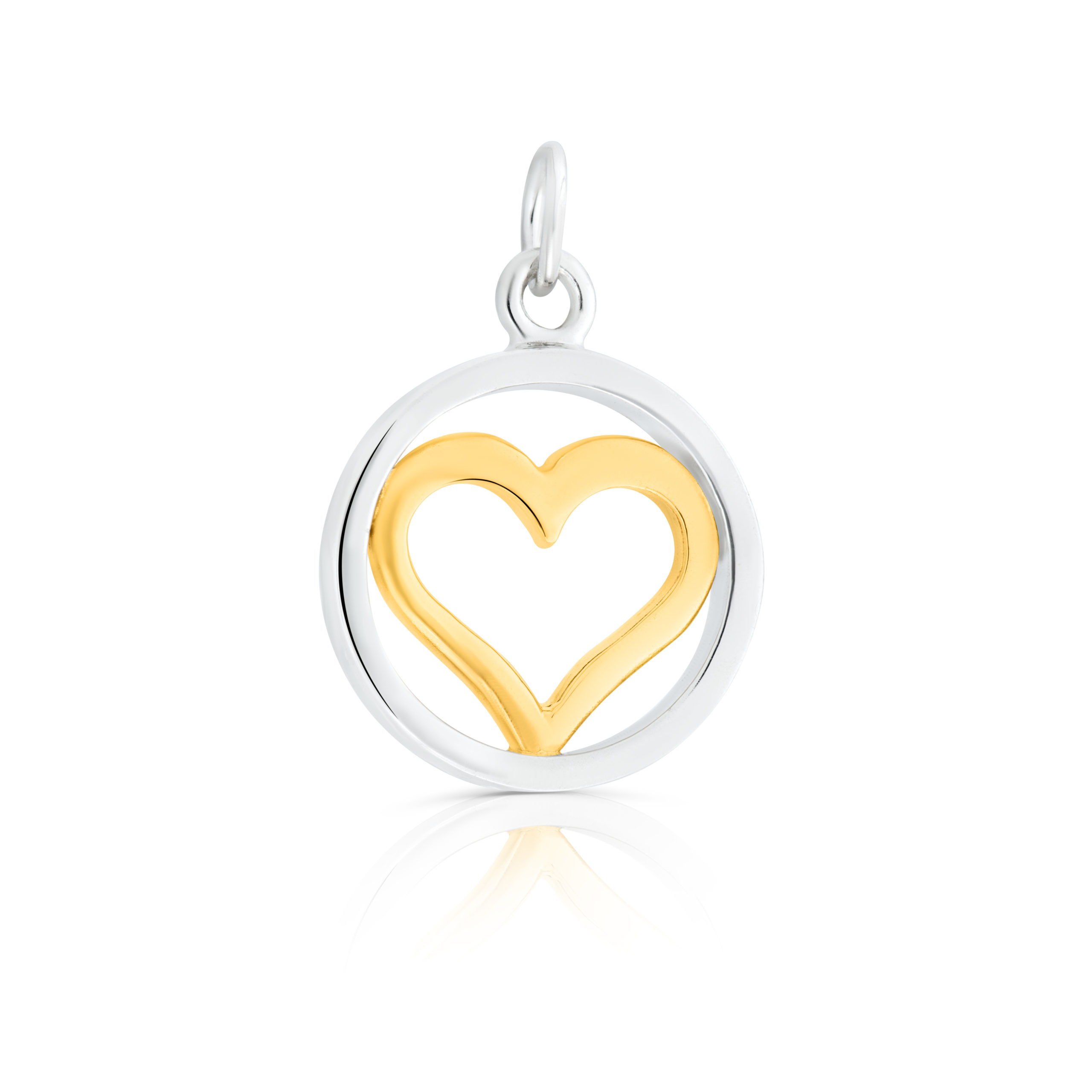 Sterling Silver and 9ct Yellow Gold Charm / Pendant (Live your dreams)