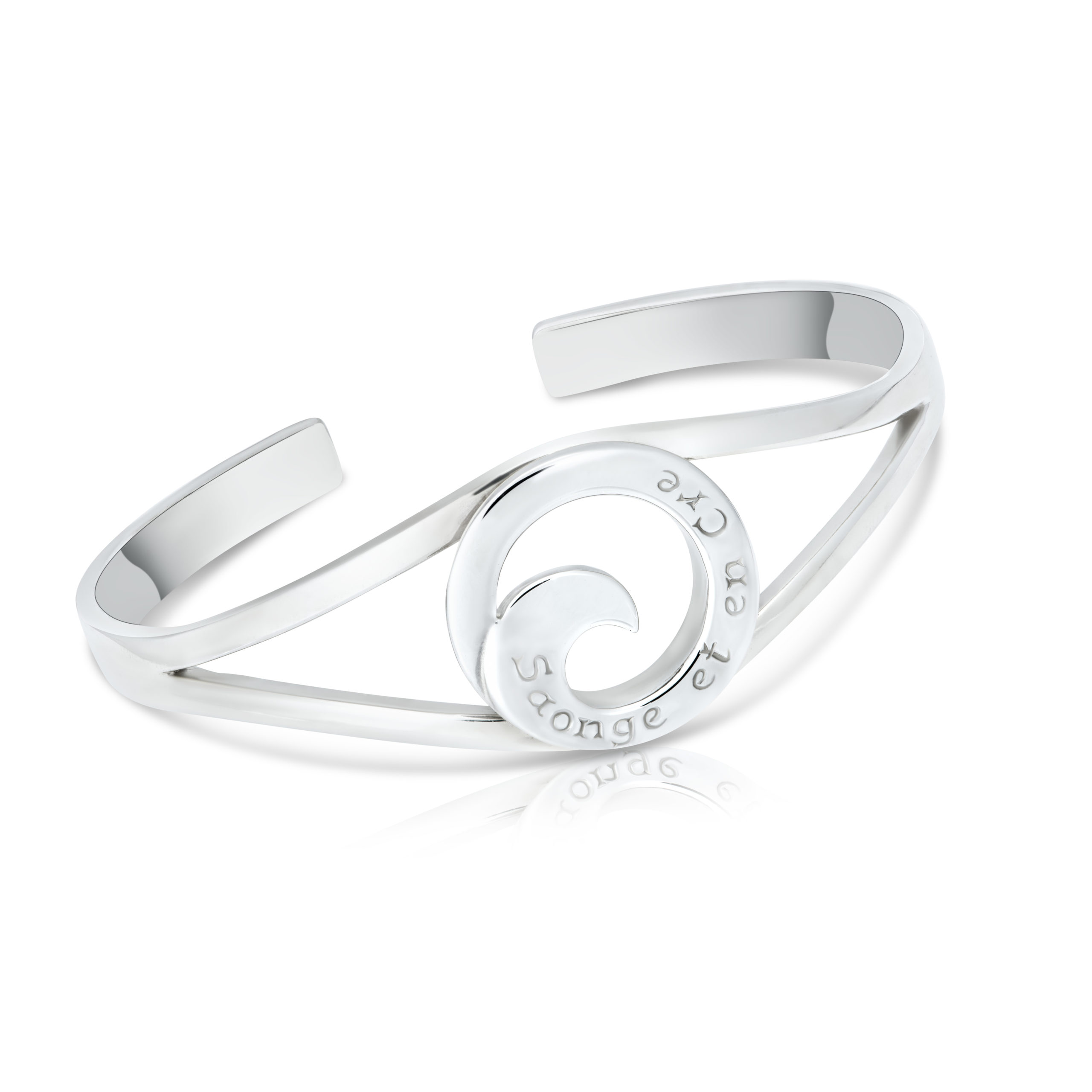 Sterling Silver Bangle (Dream and Believe )