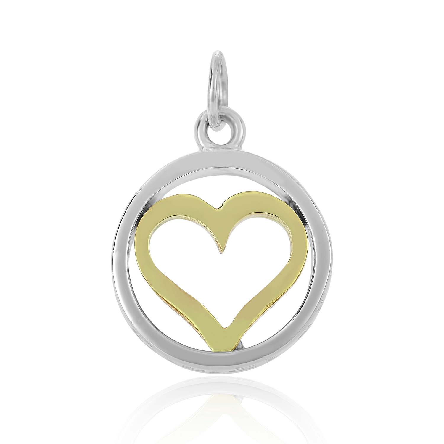 Sterling Silver & 9ct Yellow Gold Charm / Pendant