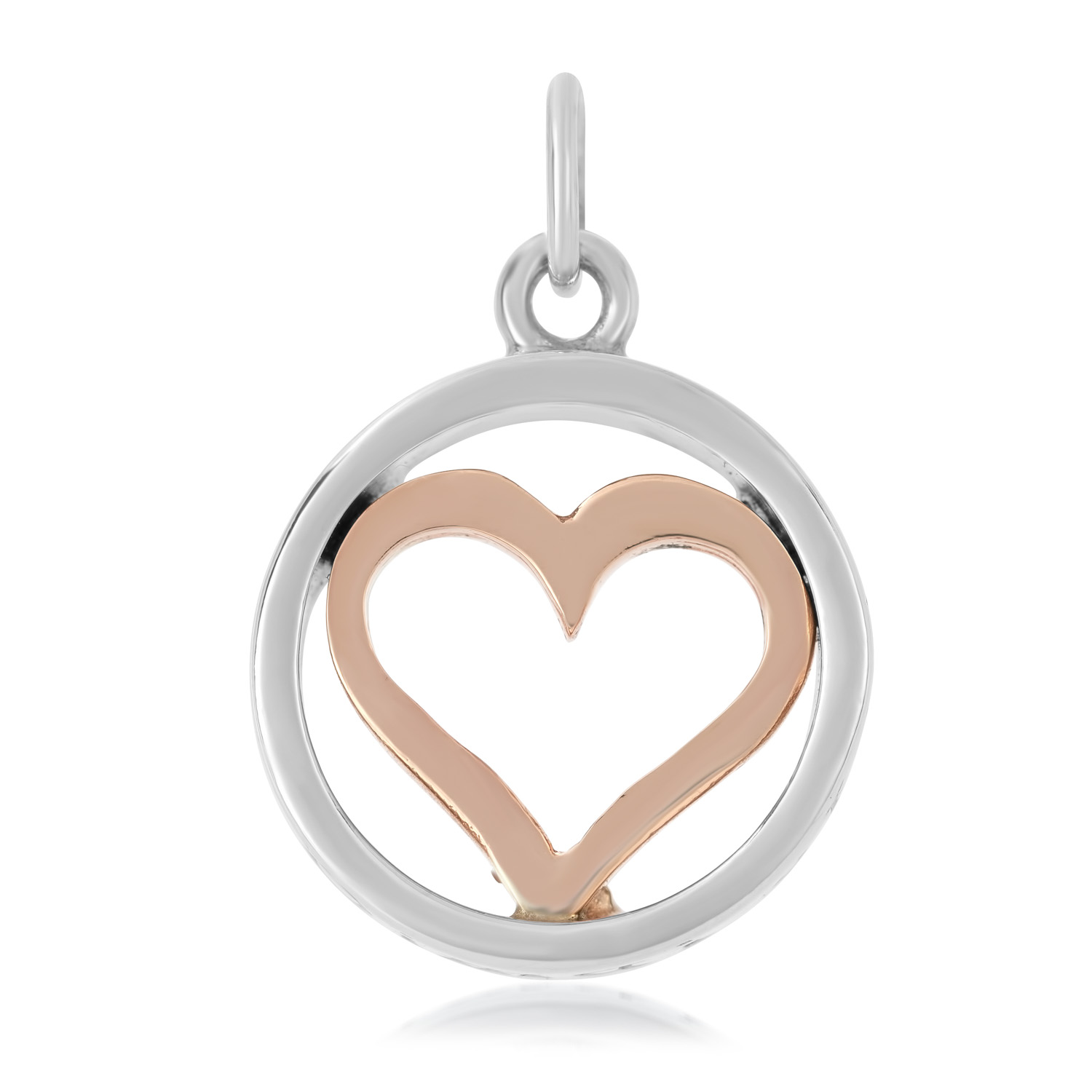 Sterling Silver & 9ct Rose Gold Charm / Pendant