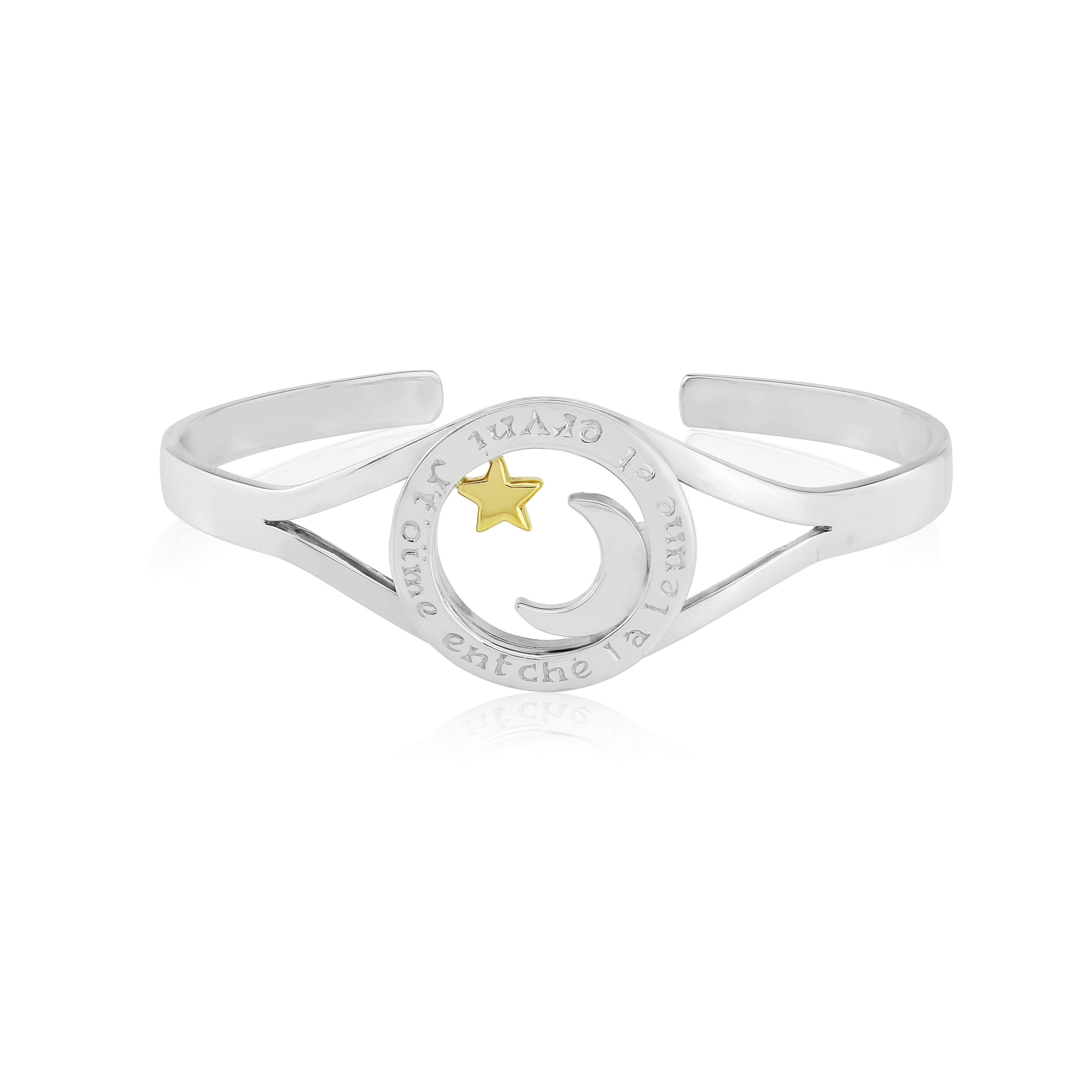 Sterling Silver & 9ct Yellow Gold Bangle