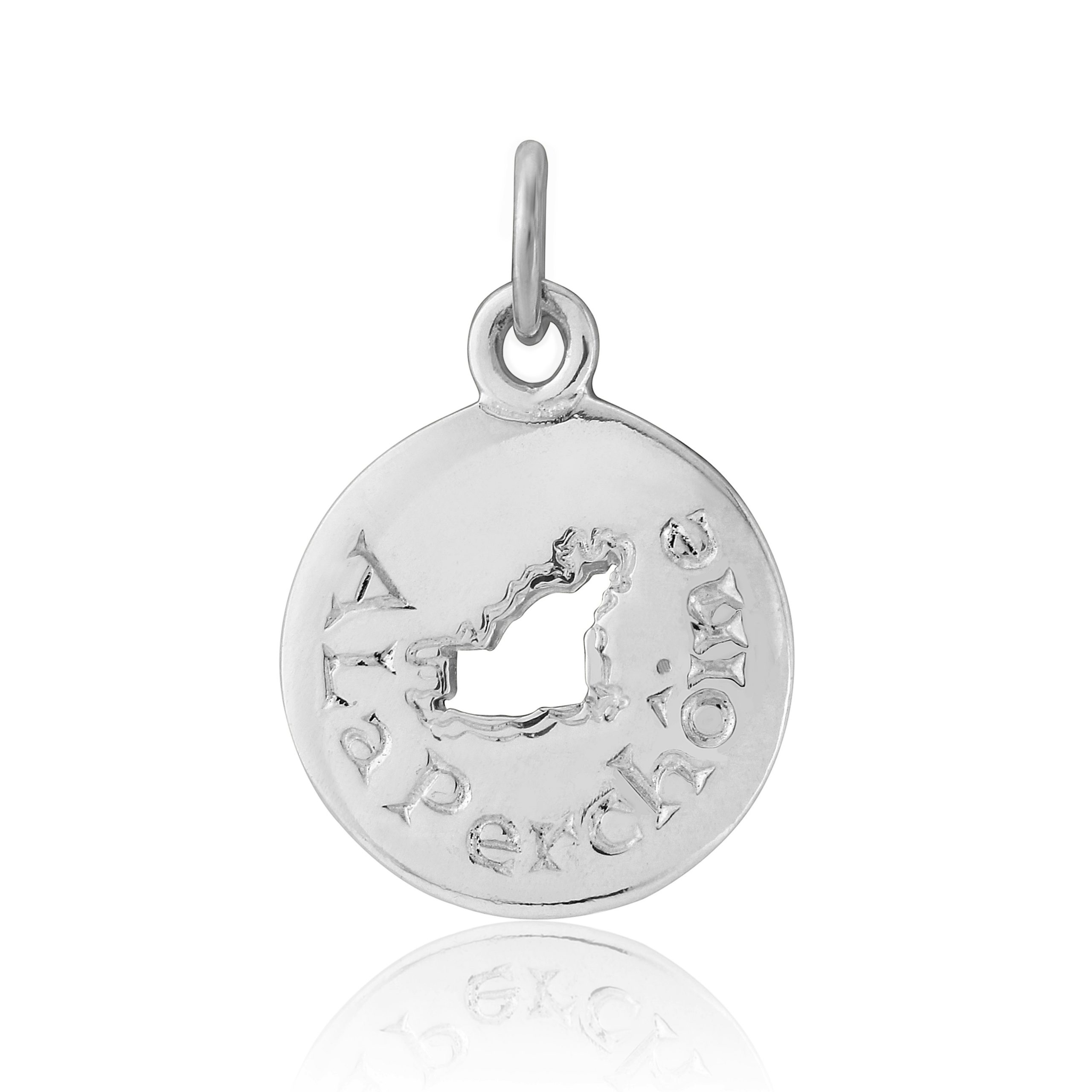 Sterling Silver Map Charm / Pendant