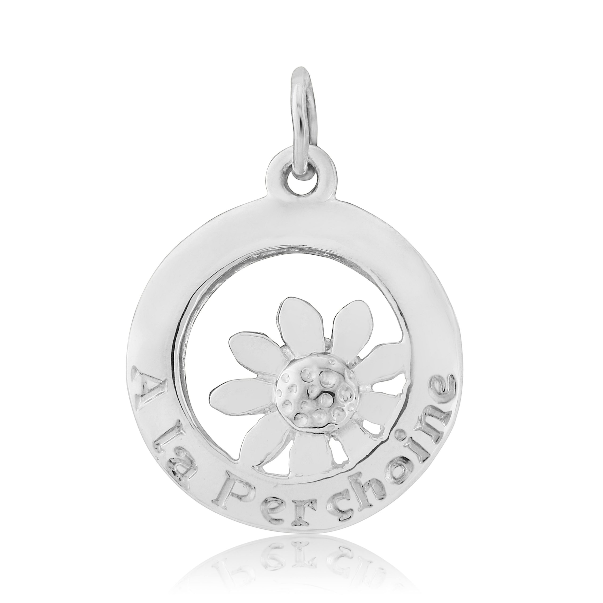 Sterling Silver Daisy Charm / Pendant