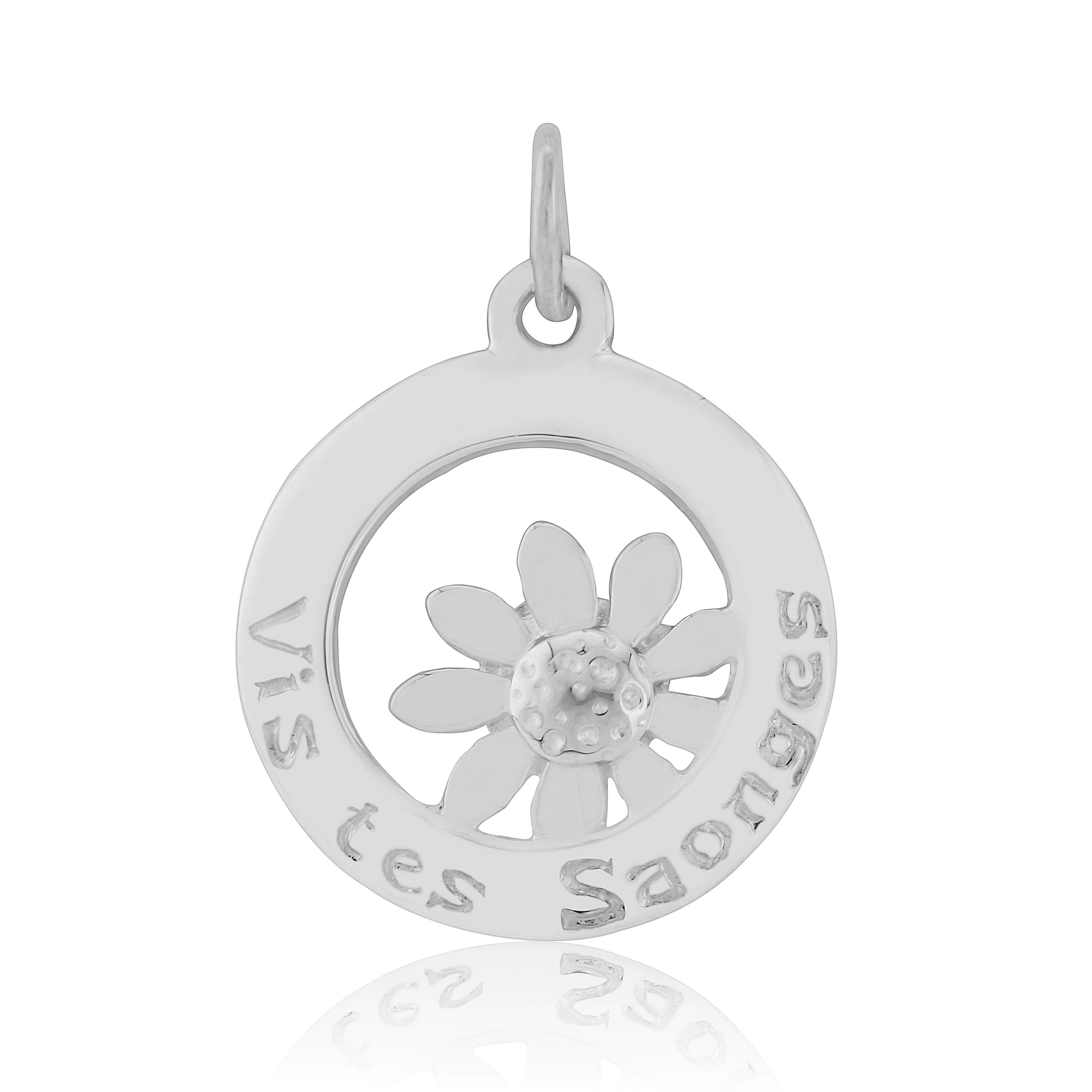 Sterling Silver Charm / Pendant  (Live your dreams)