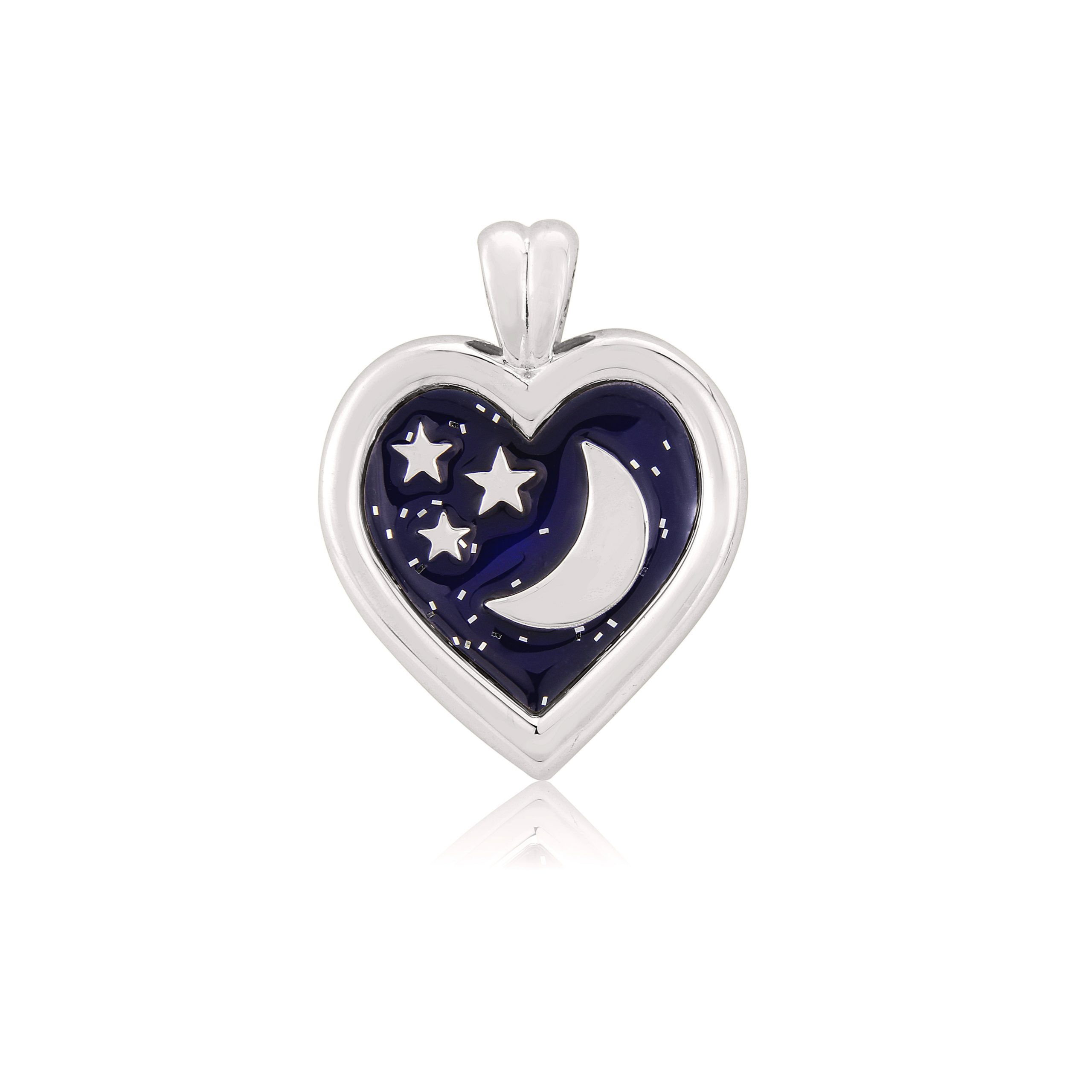 Sterling Silver Pendant  (Love you to the moon and back)