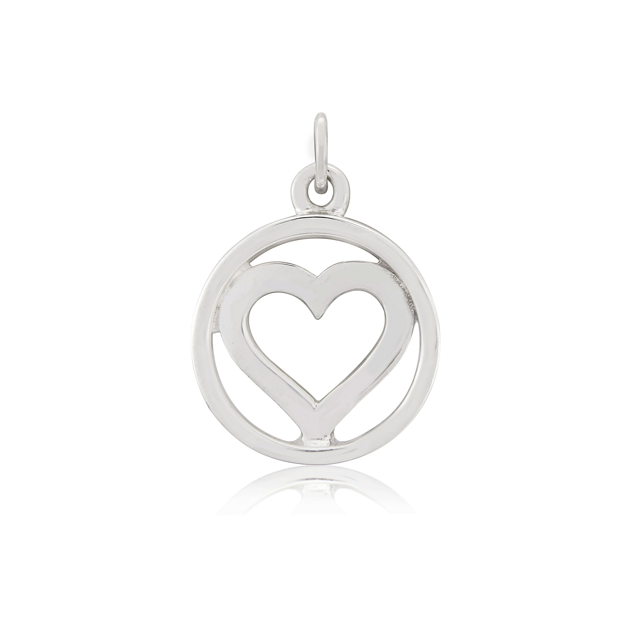 Sterling Silver Heart Charm / Pendant
