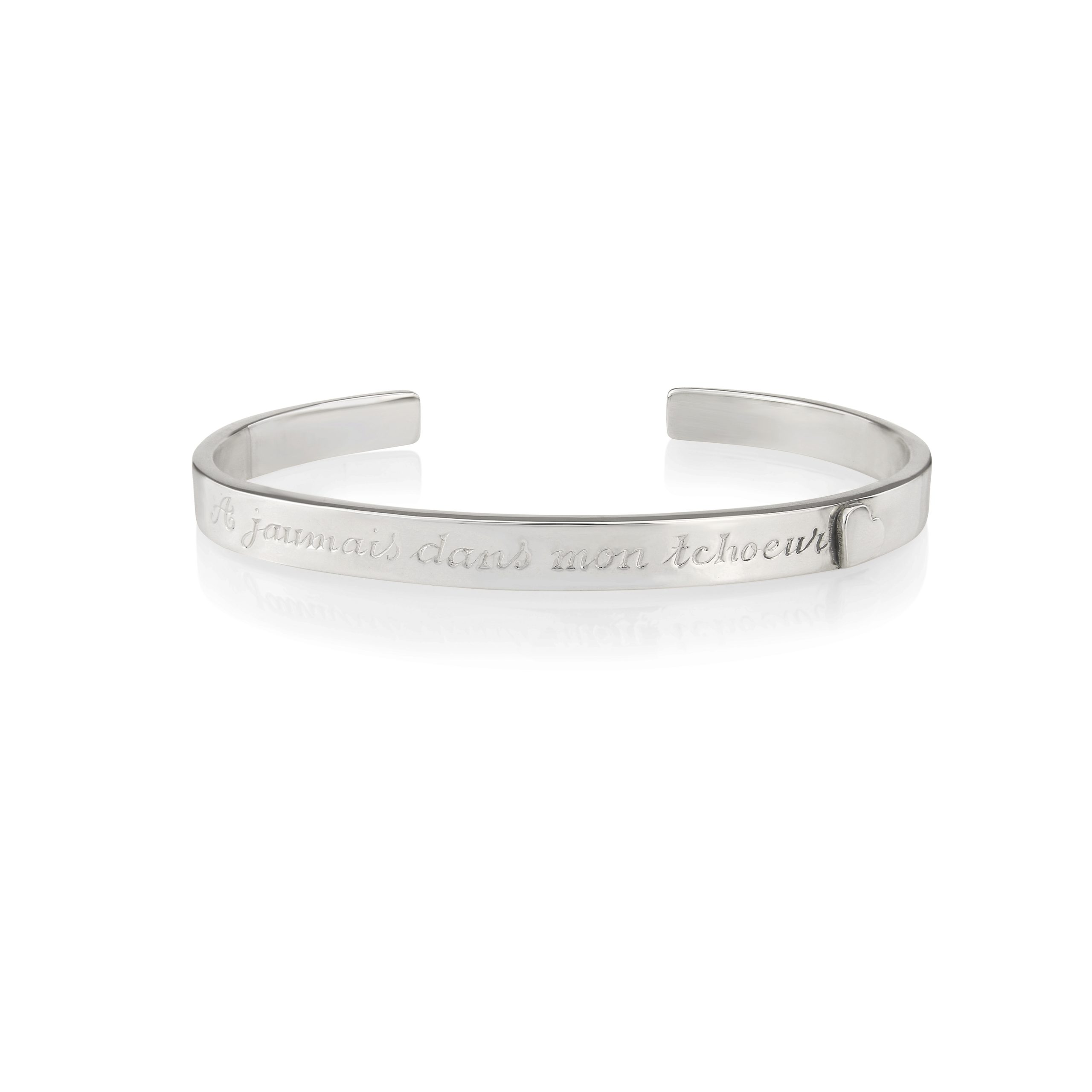 Sterling Silver Bangle (Forever in my heart)