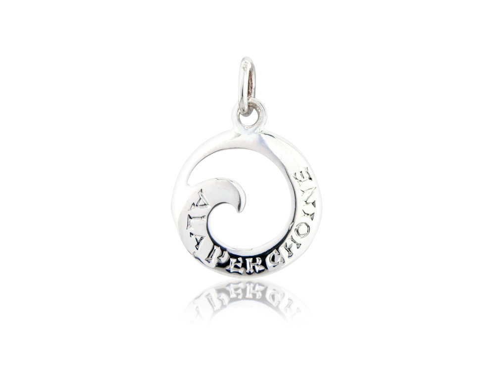 Sterling Silver Wave Charm / Pendant