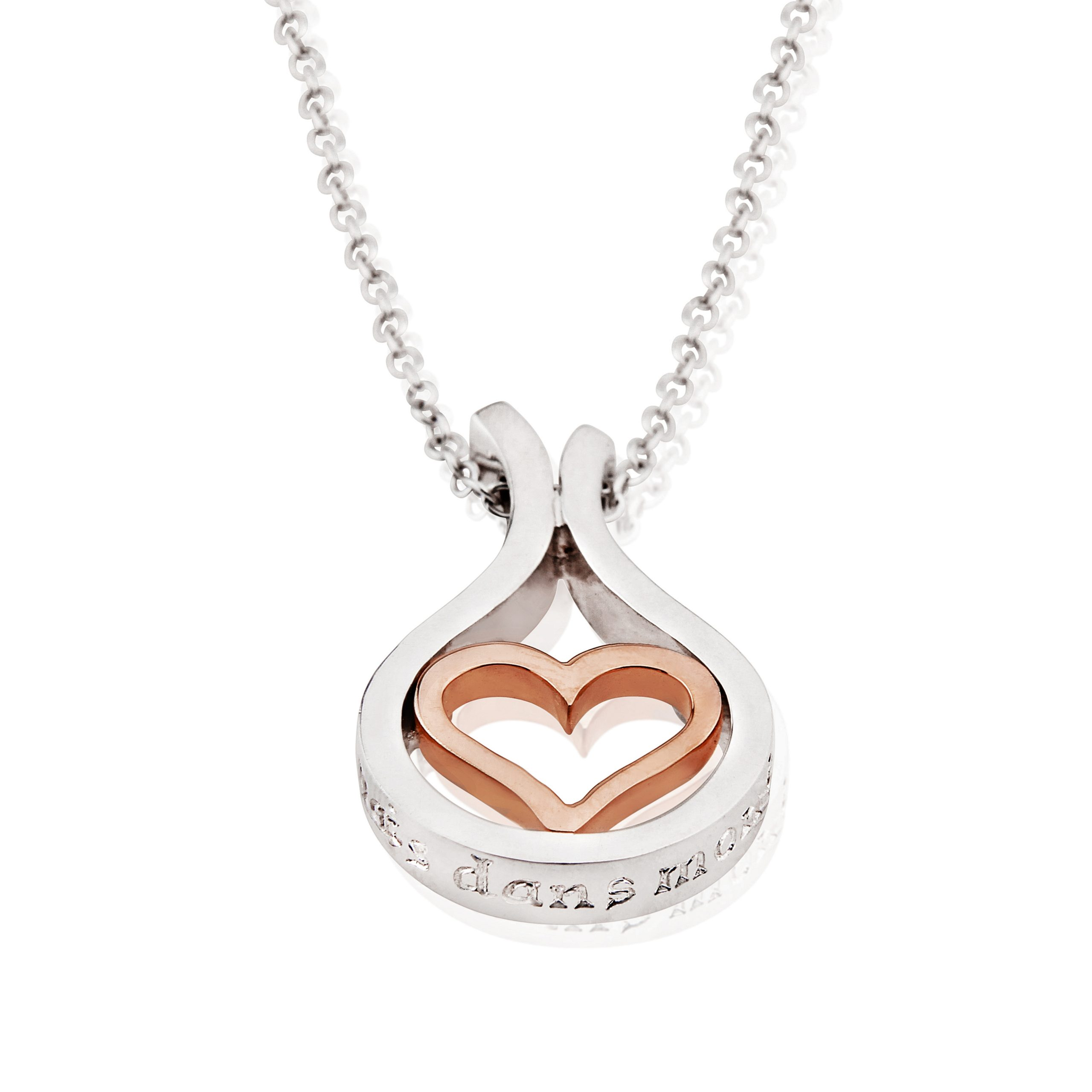 Sterling Silver & 18ct Rose Gold Pendant